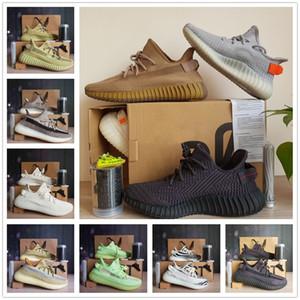 Kanye West V2 Top Quality Running Shoe Yeezreel Black Reflective Шлак Yecheil кремовый Статическая Земли Мужчины Женщины Trainner Кроссовки 36-48