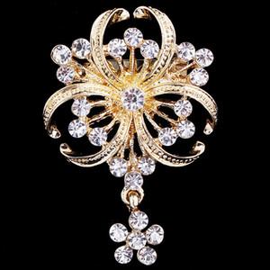 New elegante Collar High Grade de diamante incrustado de casamento Broche de casamento do diamante Pin da noiva Acessórios frete grátis