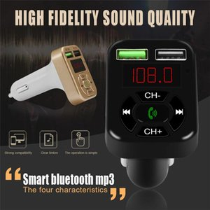FM Adapter A9 Bluetooth Car Charger FM Transmitter with Dual USB Adapter Handfree MP3 Player Support TF Card for Cellphone
