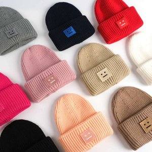 2020Acne Studios Smiling face Beanie Skull Caps knitted Cashmere Eye Warm Couple Lovers Acne Hats Tide Street Hip-hop Wool Cap Adult Hats