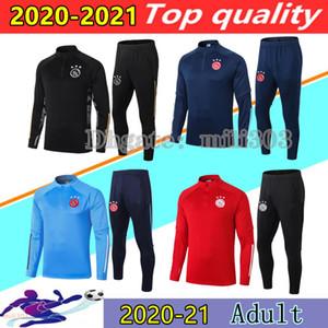 20 21 FC AJAX Erkekler Futbol Eşofman del Chandal 2020 2021 Tadiç Promes Neres Futbol Ceket Survetement Eğitim Takım Koşu Setleri