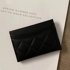 carpetas de la tarjeta carteras de marca titular de la tarjeta de diseñador de lujo diseñador Kartenhalter hombre cuero auténtico caviar de la piel de las mujeres bolso