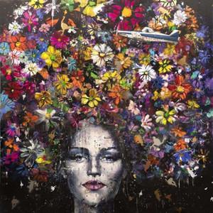 Olio Figlie Angelo Accardi fiori Home Decoration Artigianato / HD Stampa pittura su tela di canapa di arte della parete della tela di canapa Immagini Per Soggiorno 201003