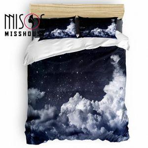 MISSHOUSE Galaxy Beautiful Night edredon cobrir Set Roupa de cama Consolador Tampa Fronhas Bedding Sets D5XQ #