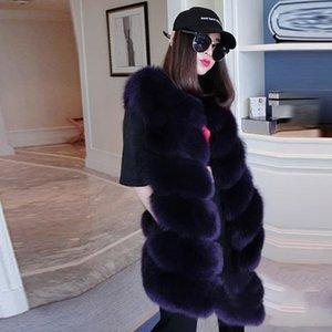 Neue weibliche pelz weste pelz nähen lange weste dame oberbekleidung mantel winterwesten kleidung frauen winter jacke mantel