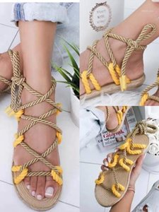 Mujeres Cross Strap Summer Roman Gladiator Sandals Strappy Clip Toong Talón plano tacón Flip Flaock Shoes1