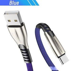 3M USB Tipo C Para OnePlus 7T 6 Realme XT 5 Pro Redmi K30 K20 Tubarão Preto 2 Umidigi Power 3 F2 Celular Cabo Cabo