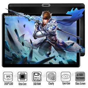 Tablet PC Google Android 7.0 Octa Core 10 Inch 3GB RAM 32GB ROM 5MP WIFI GPS 4G LTE 2.5D Tempered Glass 1920*1200 IPS1