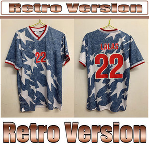 Top 1994 U S A Away Shirt retro soccer jerseys Wegerle Lalas Ramos Balboa 94classic football shirts States