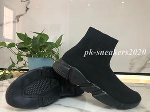 New Paris Speed Trainers Knit Meias Sapatos Originais Homens Mens Preto Branco Branco Vermelho Tricô Sapatilhas Cheap Best Quality Sapatos Casuais com Caixa