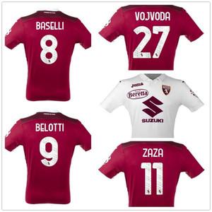 Personnalisé 20-21 Torino Home Home Thai Qualité Soccer Jersey Shirts Belotti 9 Baselli 8 Zaza 11 Vojvoda 27 Custom Online Wholesale Discount pas cher