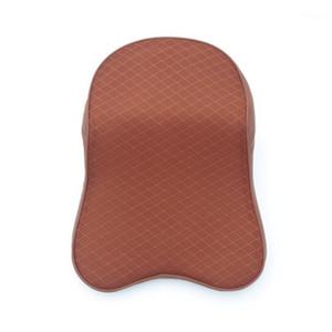3D Breathable Brown Car Headrest Memory Foam Mesh Car Neck Pillow Head Neck Rest Cushion Interior Accessories1