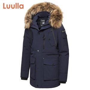 Men Winter New Casual Faux Fur Collar Long Thick Parkas Jacket Coat Men Outwear Hooded Pockets Waterproof Jackets Parka Men 201201