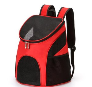 Pet Dog Carriers Backpack Bags Pet Cat Outdoor Travel Carrier Packbag Portable Zipper Mesh Backpack Breathabl jllllN lajiaoyard