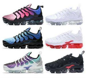 Lo nuevo del tamaño grande con nosotros 13 Tn Plus zapatos corrientes de la puesta del sol inversa Todos Blanco Negro Rojo Violeta para hombre formadores de lujo de diseño en las zapatillas de deporte de los hombres Deportes
