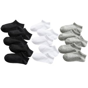 5 Pairs Baby Socks Boys Girls Black White Gray Socks Cotton Soft Newborn Babies Loose Comfortable Sock Kids School Sport Clothes