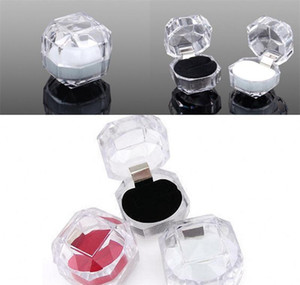 Fashion Acrylic Jewelry Packing Box Womens Ornaments Case Ring Earring Stud Storage Jewels Gift Co jllCuT mx_home
