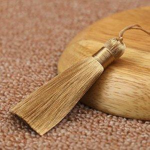 10pcs 8cm Brush Pendy Pendant Accessori per orecchini fai da te Gioielli per la produzione di seta satinata nappa fatta a mano artigianato risultati fornitore H Bbyqgk