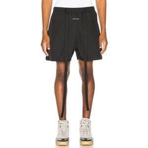 Fear Of God 6th Black Drawstring Shorts FOG Street Skateboard Fashion Casual Outdoor Short Loose Pants Summer Beach Shorts HFLSDK056