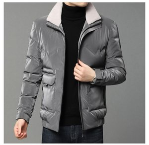 2020 winter new men's casual down jacket white duck down thickened warm youth jacket simple Quality assurance