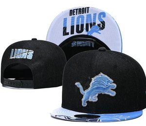 2020 Detroit hat Team Fans's Snapback Hat Brand Popular Hip Hop Adjustable Cap Flat Bill With Special Printed Visor a1