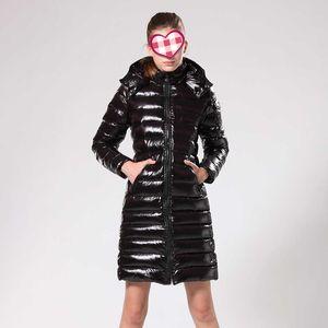 Женская пуховик ветровки Женская мода Зимняя куртка Шуба Doudoune Femme Black Winter Coat Верхняя одежда с капюшоном