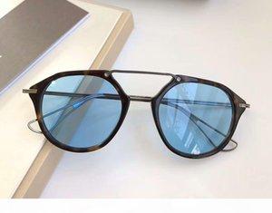 Ретро Tortoise Black Iron Солнцезащитные очки Синие линзы DS 119 Оттенки Cолнцезащитные очки Eyewear Новые с коробкой