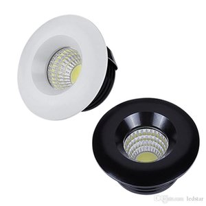 110 V 220V 12V Dimmable LED Downlights Redondo Cob Mini Spot Recessed Levou lâmpada para baixo para Luzes Home do Gabinete para o driver de vitrine incluído