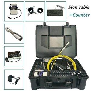 الكاميرات أنابيب الصرف الصحي استنزاف التفتيش كاميرا CCTV خط أنابيب الفيديو للماء تحت الماء 50M الفيبرجلاس كابل chimney1