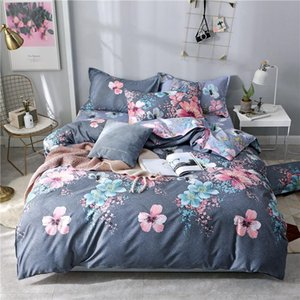 100% Polyester Bedding Set Bed Linen Quilt Cover and Pillowcase Duvet Cover Flat Sheet Double Twin Full Queen Bedspread 220*240