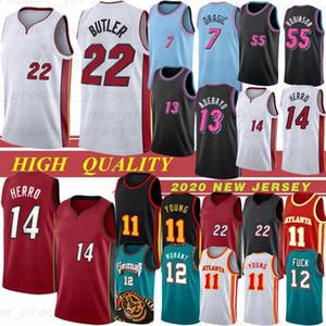 Trae Ja 12 Ahlaki 11 Genç 2021 NCAA Basketbol Formaları Jimmy Tyler Butler 22 Herro 7 Dragic 13 Adebayo 55 Robinson 12 Ahlaki 11 Genç