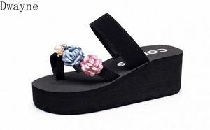 2020 Fashion Wild Korean Version Of The New Thick Soled Sandals Flowers Beach Sandals And Slippers Women Summer Fashion Wear Fli Women SZB6#