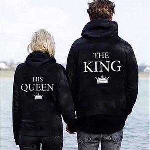 Hoodie König und Königin Pull Harajuku Frauen Alibaba Online Shopping Sweatshirt Aesthetic Damenbekleidung Kostenloser Versand