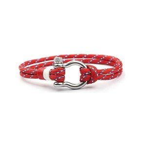 Novo de aço inoxidável fivela mão catenary bow moda guarda-chuva corda pulseira pulseira jóias ofício