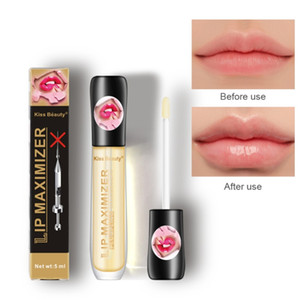 Kiss Beauty Packmer Gloss Прозрачный Цвет Длительный Водонепроницаемый Увлажняющий Глянок для губ Глянок