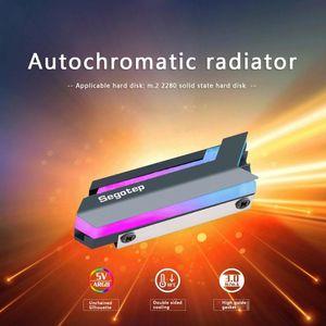 RGB M.2 SSD теплоотвод NGFF 2280 NVMe Solid State Drive Cooler для настольных ПК Компьютер