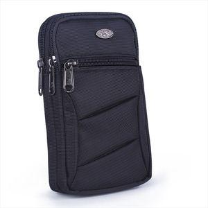 Nylon Unisex Cell Mobile Phone Case Cigarette Bag Fanny Belt Waist Pack Hook Fashion Light High Quality Male Small Shoulder Bags
