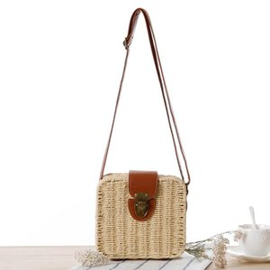 Shopowner Recommend New Pattern Color Shoulder Package Beach Package Mori Straw Article Woman Rattan Plaited Articles
