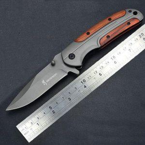 Maniglia Browning Coltello DA43 titanio Folding Knives 3Cr13MoV 55HRC legno tattica di campeggio di caccia della tasca di sopravvivenza di EDC Utility Strumenti per il regalo