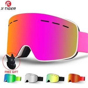 X-KAPLAN Marka Kadınlar Kayak Gözlükler Çift Katmanlar UV400 Anti-sis Büyük Kayak Gözlük Kayak Güneş gözlüğü Erkekler Kar Snowboard Goggles 201.022 Maske