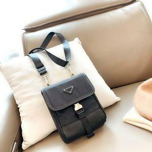 2021 роскошные мужские пакеты телефона дизайнеры Crossbody сумки на плечо черный бренд женские кошельков нейлоновые конверт мини смена сумка PD21010701
