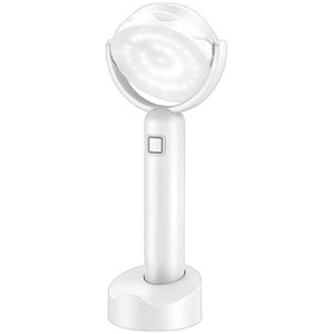 LED Desk Lamp, Wireless Nursery Night Light, Mini Dimmable White Table Lamp with Rechargeable Battery, Torch