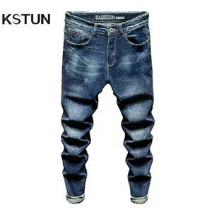KSTUN Slim Fit Jeans Men Stretch Blue Fashion Mens Brand Jeans Casual Denim Pants Men's Clothing Male Long Trousers Wholesale