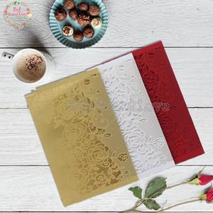 10sets Flower Laser Cut Wedding Invitations Card Invitations Elegant Wedding Favors Invitation Card Vintage Pearl Paper