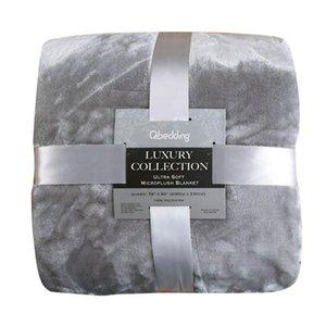 Flannel Fleece Blanket Warm Soft Thicken Throw Blankets for Sofa Bed Plane Travel Solid Color Quilt Comforter Bedsheet