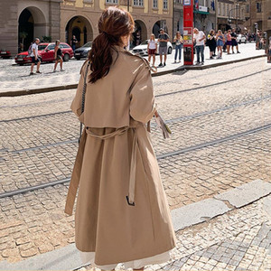 2020 Autumn New High Fashion Brand Women Classic Trench Coat Waterproof Raincoat Business Outerwear