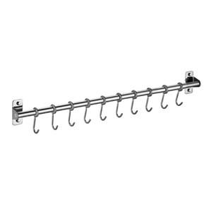 Rack ustensil monté sur mur en acier inoxydable suspendu rail de cuisine avec 6/8/10 crochets NOUVEAU 2021