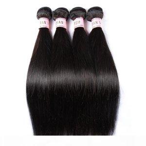 BD шелковистые прямые наращивания волос человека индийские прямые человеческие волосы двойные слои 3 4 пучка один набор
