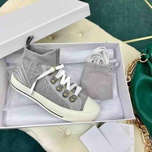 Marke Frauen Schaum Sneaker Grau Blaue Mesh Schuhe Walk'n 'Sneakers Socken Strickschuhe Mode Designer Freizeitschuhe mit Box