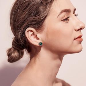 3 couleurs classique Round Bijoux Boucles d'oreilles Achats en ligne Inde cristal Inlay résine femmes de bijoux Boucles d'oreilles
